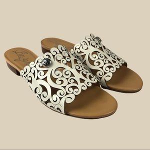 Brighton | White & Tan Nala Sandals